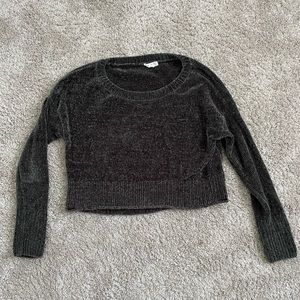 Garage Oh So Soft Chenille Knit Sweater Grey